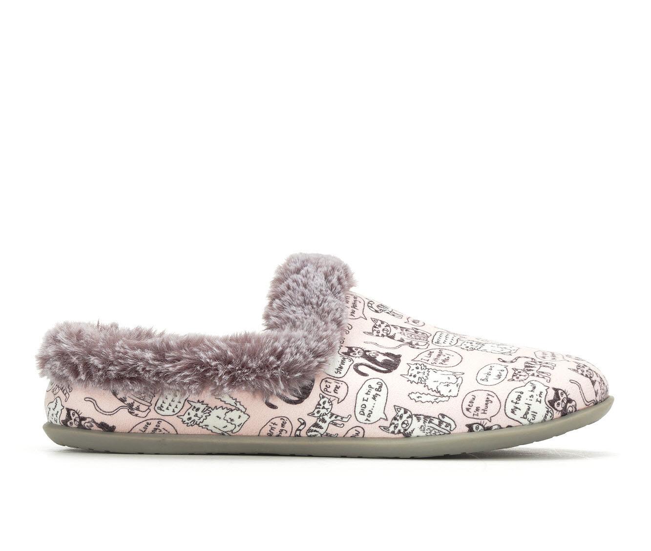 BOBS Cuddle Kitties Slipper Pink/Blk/White