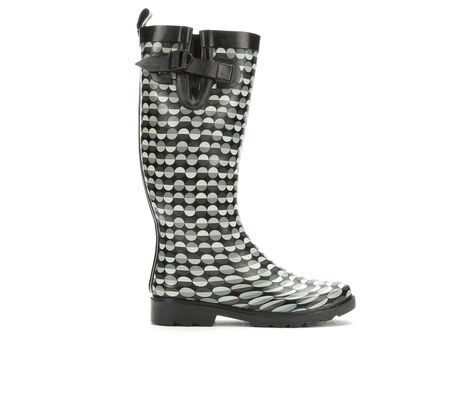 Women's Capelli New York Split Dot Lines Rain Boots
