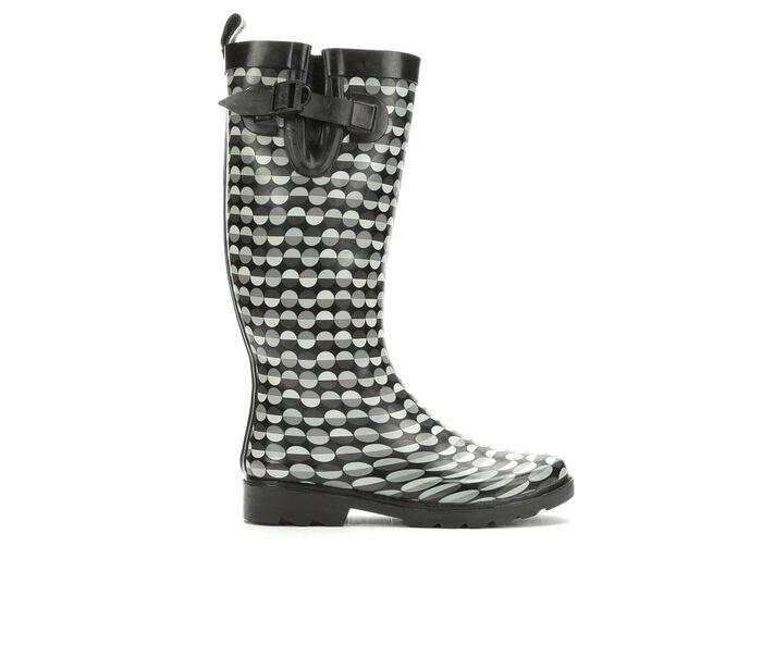 Women's Capelli New York Split Dot Lines Rain Boots