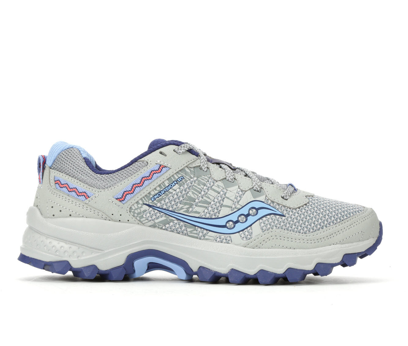 Women's Saucony Excursion TR 12 Trail Running Shoes Grey/Blue/Pink