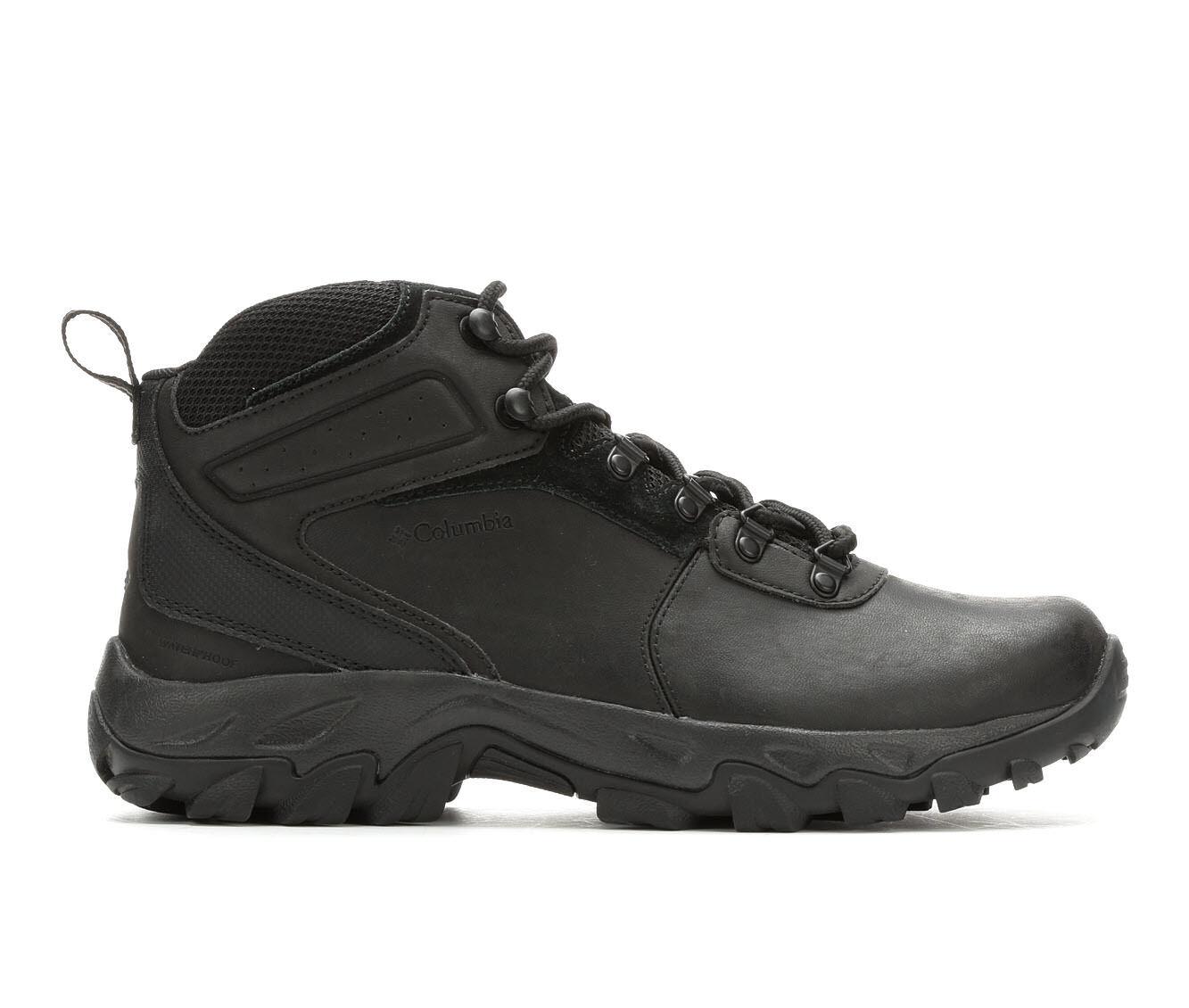 Men's Columbia Newton Ridge Plus II Waterproof Hiking Boots Black/Black