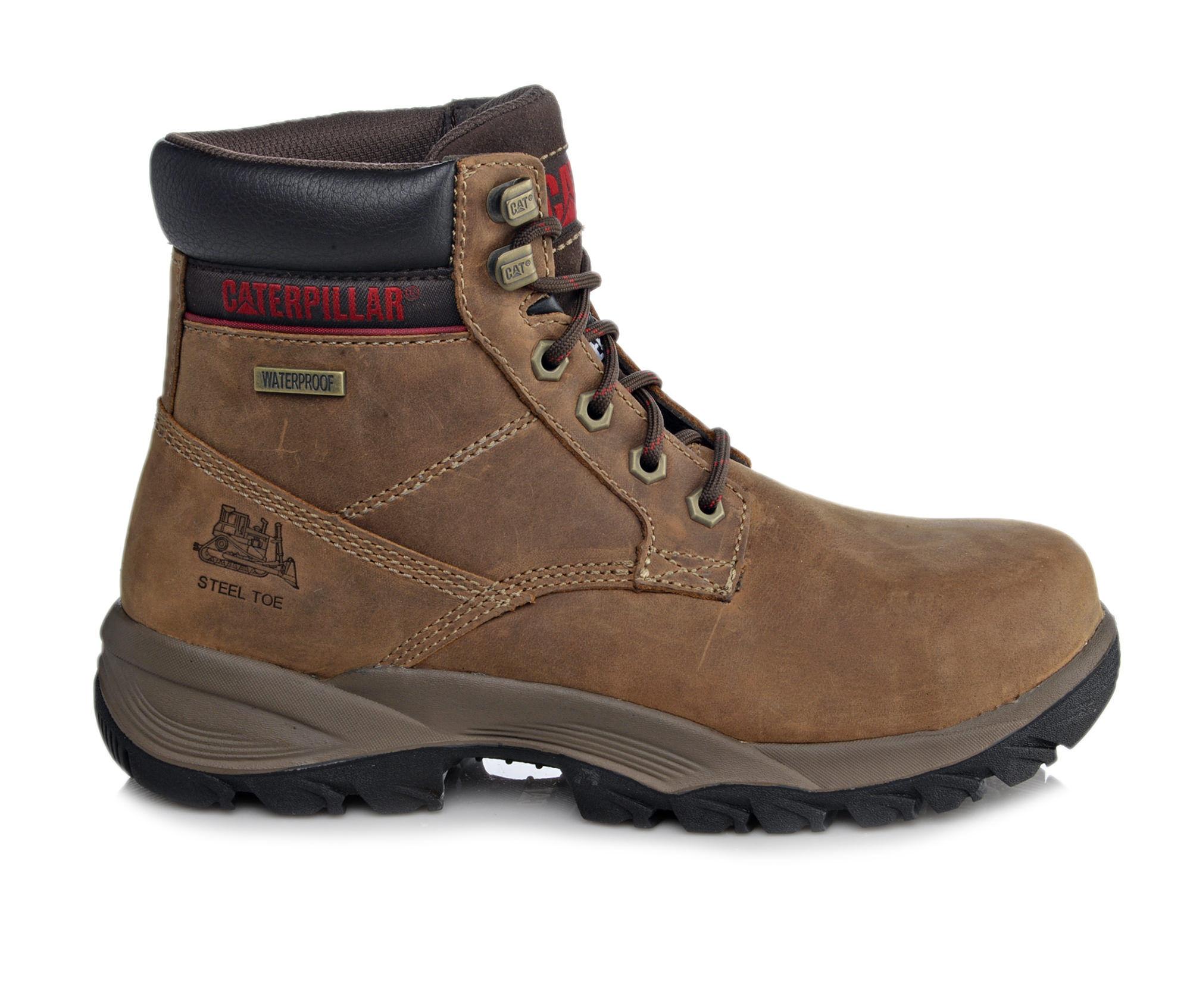 Women's Caterpillar Dryverse 6 In Waterproof Steel Toe Work Boots Dark Brown