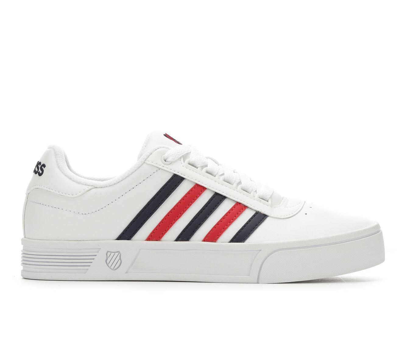 summer hot sale Women's K-Swiss Court Lite Stripes Tennis Shoes White/Red/Blue