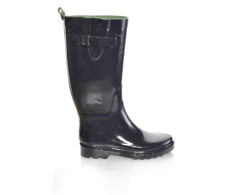 Women's Capelli New York Shiny Solid Rain Boots