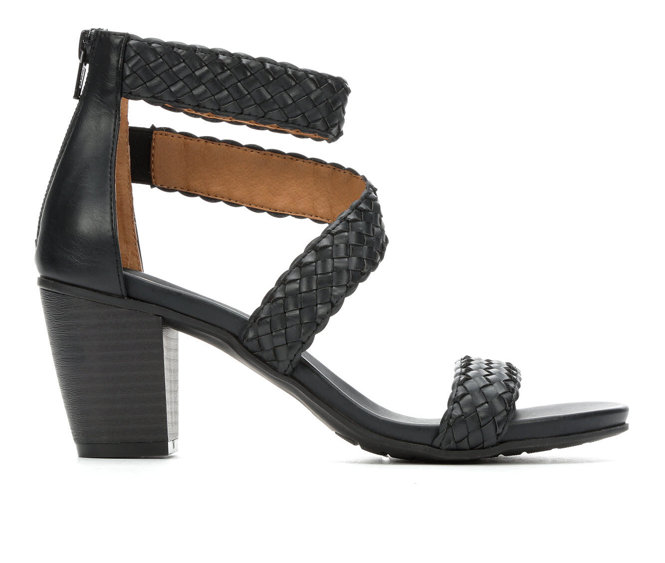 New Style Women's White Mountain Sundown Dress Sandals Black