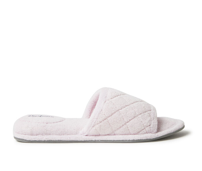 Dearfoams Beatrice Terry Slide with Quilted Vamp Slippers