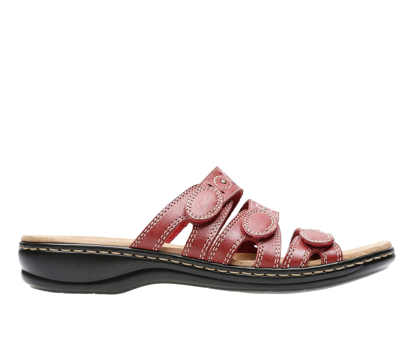 coupon Women's Clarks Leisa Cacti Sandals Red