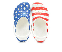 Adults' Crocs Classic American Flag Clogs