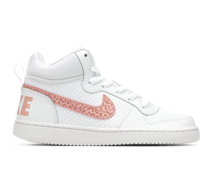 Girls' Nike Court Borough Mid 3.5-7 High Top Basketball Shoes