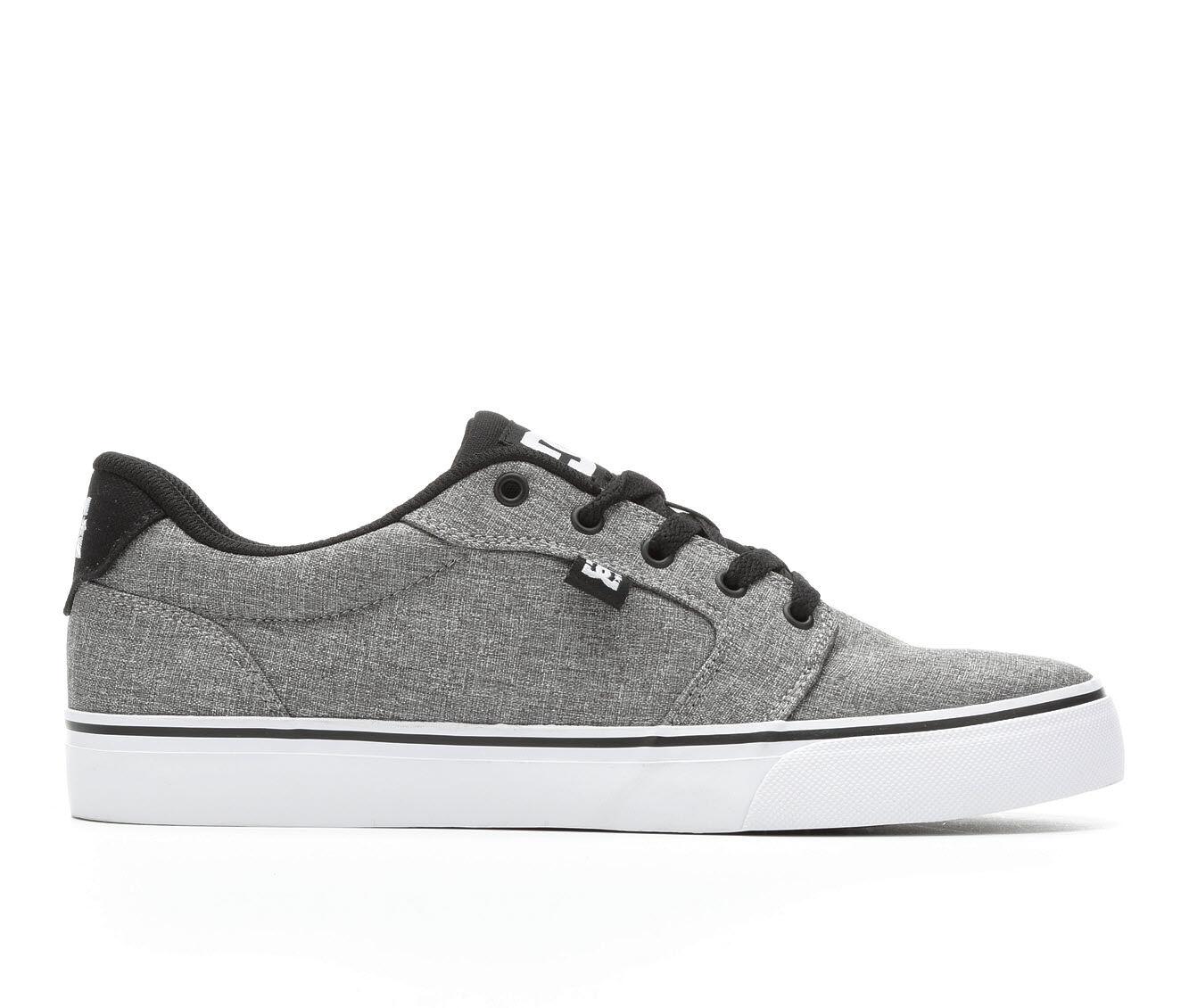 Men's DC Anvil TX SE Skate Shoes Heather/Blk/Wht