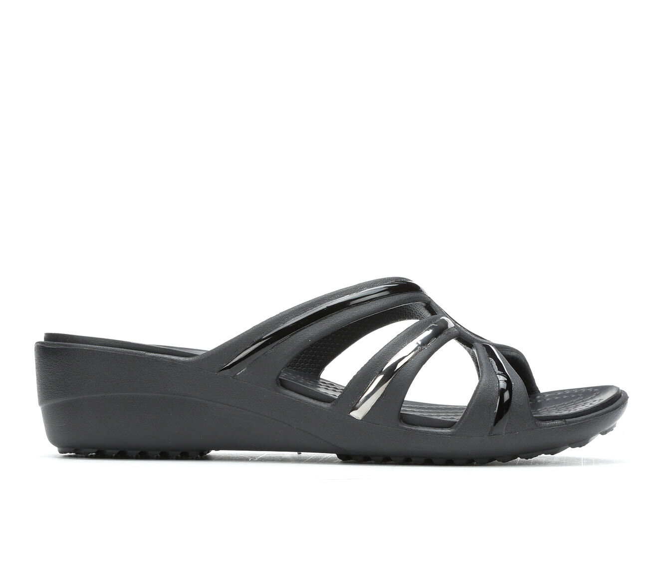 get further Women's Crocs Sanrah Metalblock Multi Black/Bla