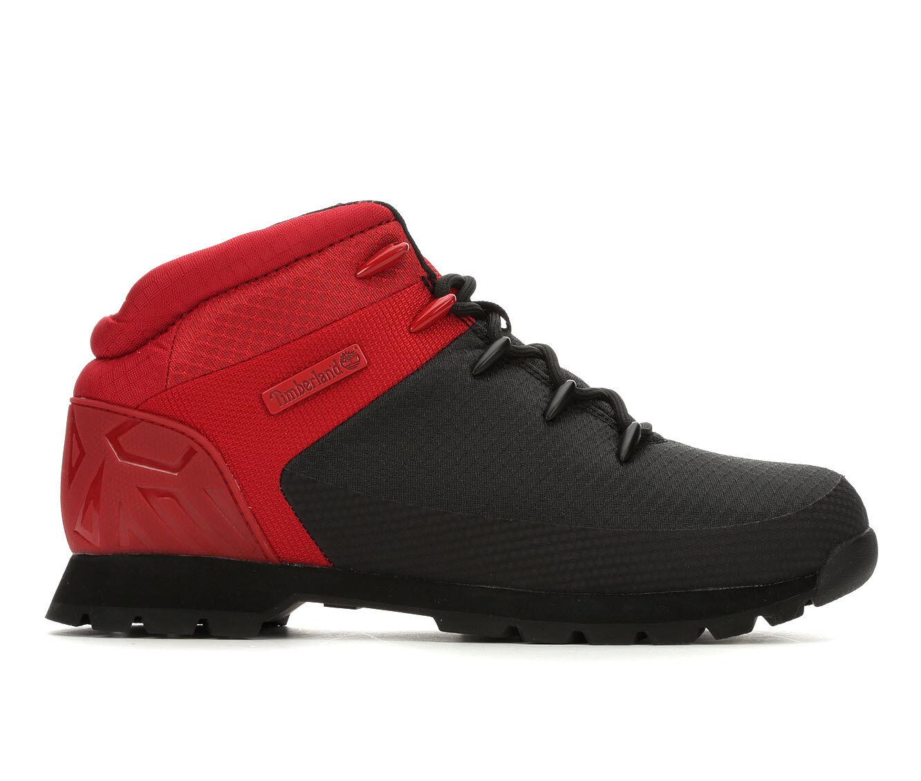 Men's Timberland Euro Sprint Hiker Boots Black/Red Mesh