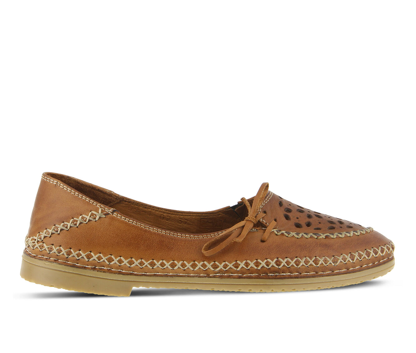 latest series Women's SPRING STEP Sideway Flats Light Brown