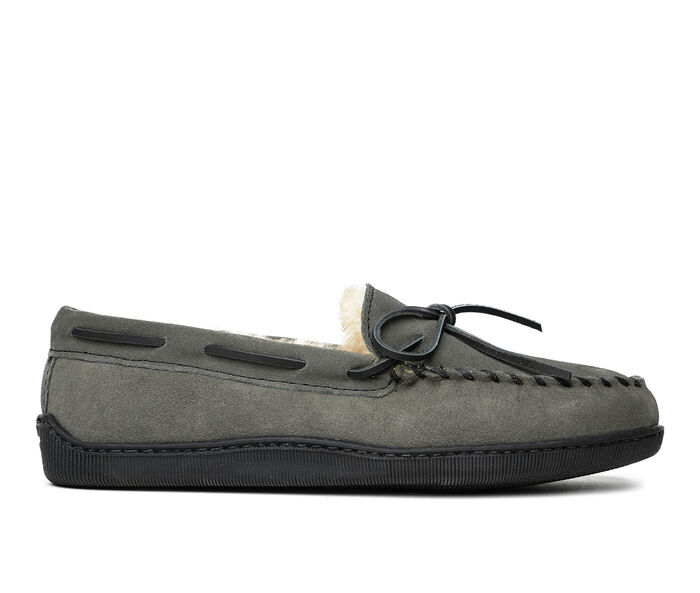 Minnetonka Sheepskin Hardsole Moc Slippers