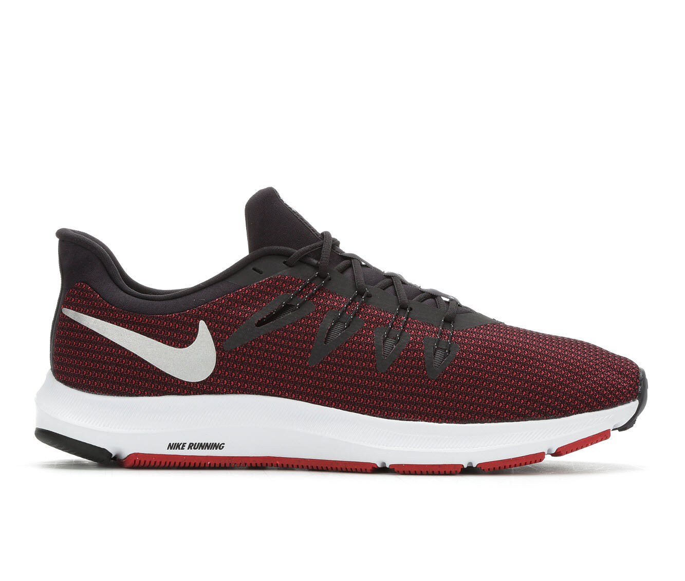 Men's Nike Quest Running Shoes Red/Blk/Sil