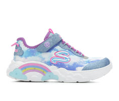 Girls' Skechers Little Kid Rainbow Racer Light-Up Shoes