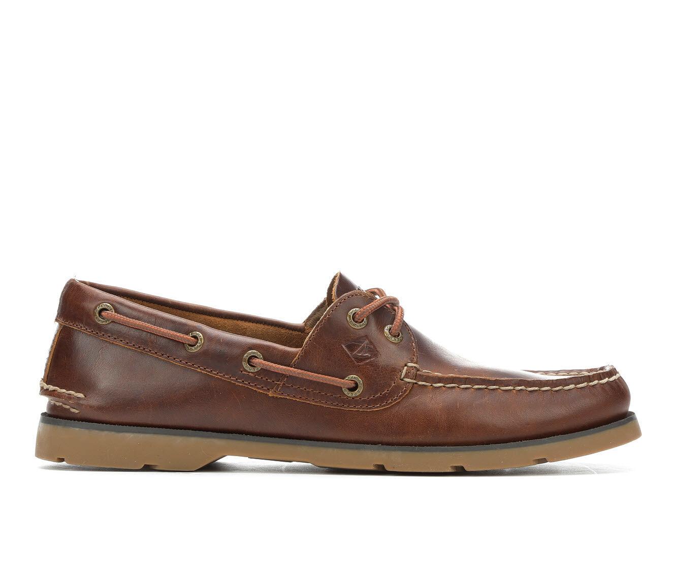 Men's Sperry Leeward 2 Eye Boat Shoes Tan