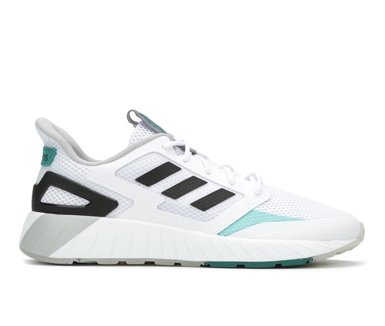 Men's Adidas Questar Strike Running Shoes Wht/Blk/Gry/Blu