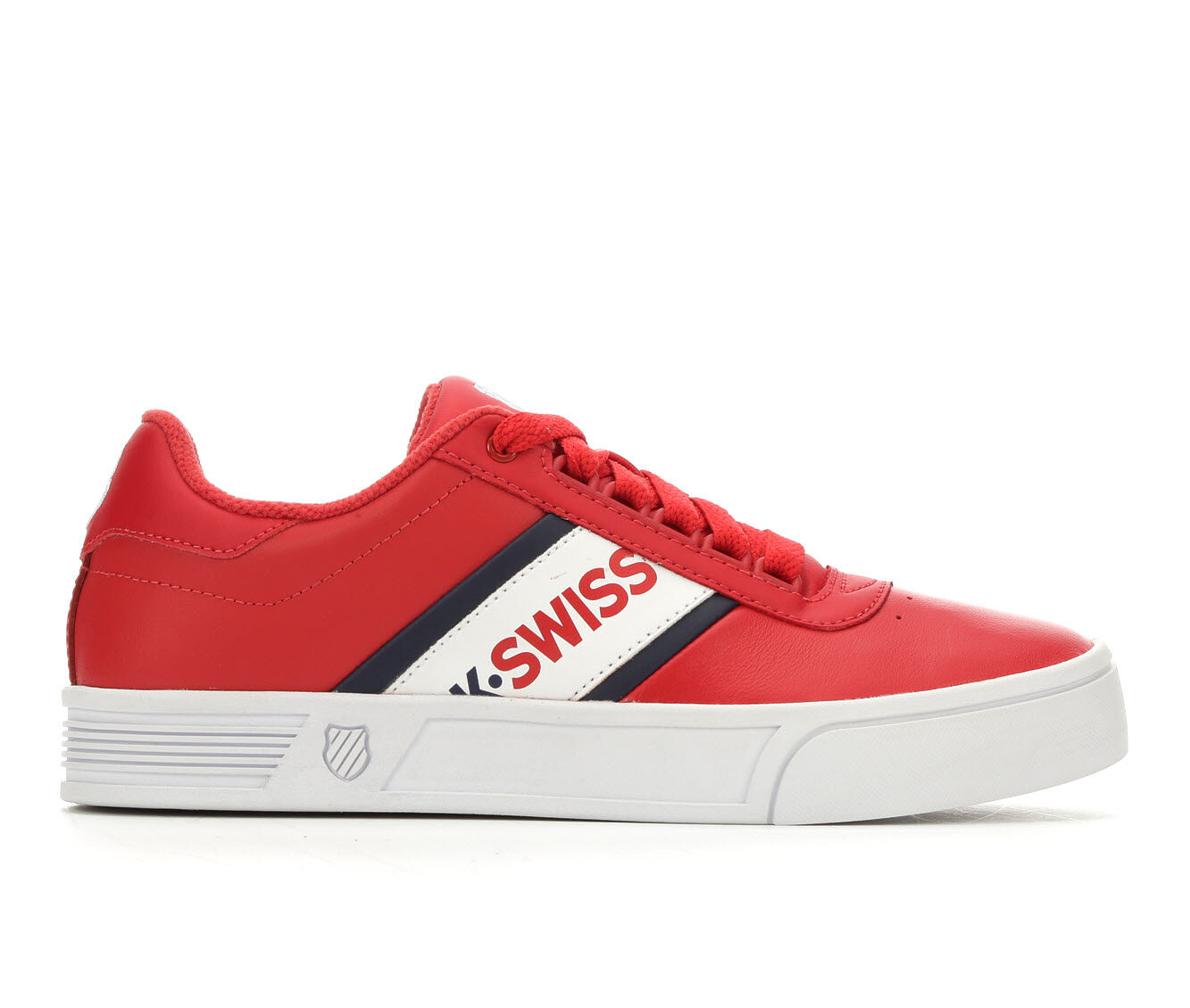 Women's K-Swiss Court Lite Spellout Tennis Shoes Red/Navy/Blue