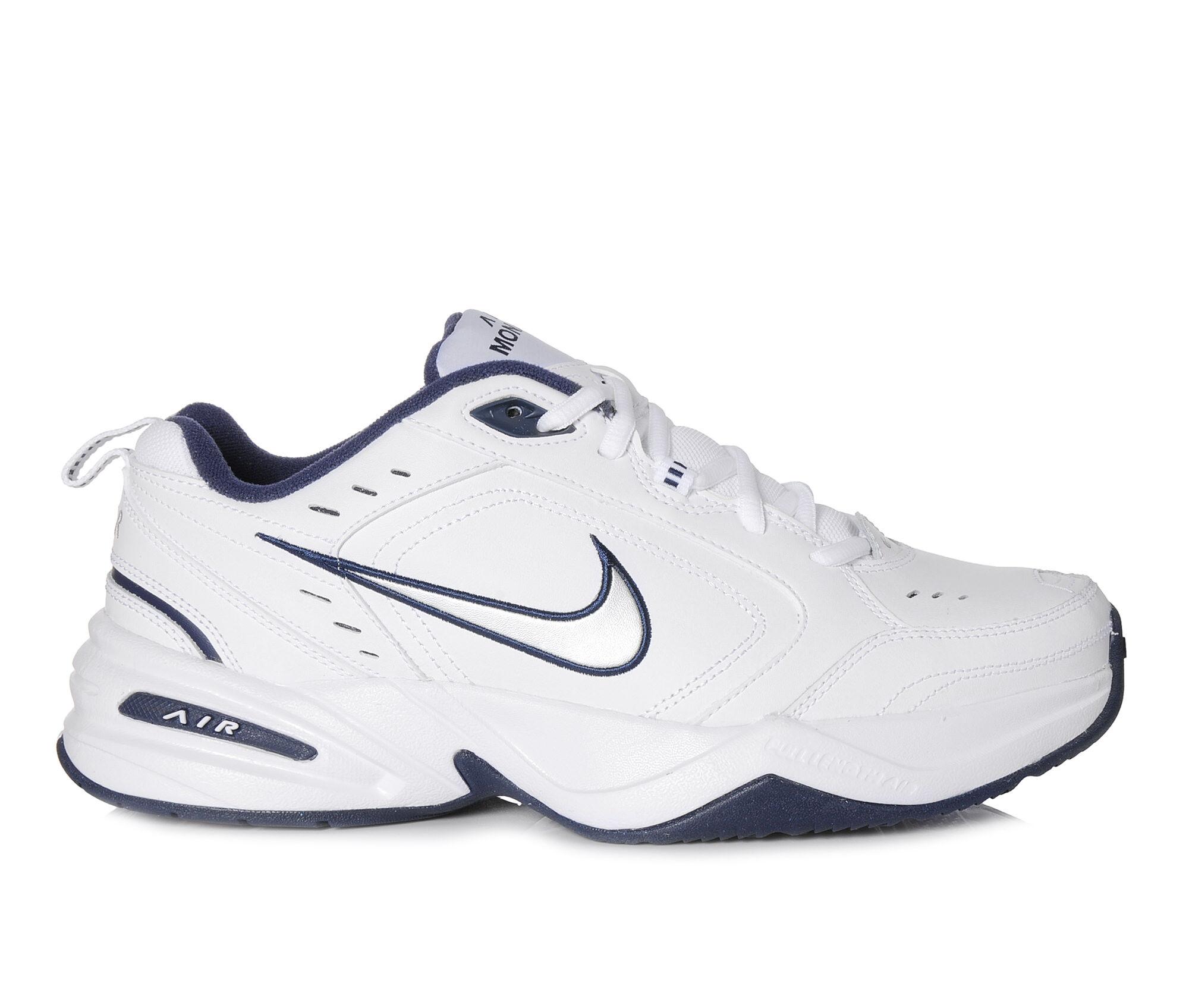 Men's Nike Air Monarch IV Training Shoes White/Sil/Navy