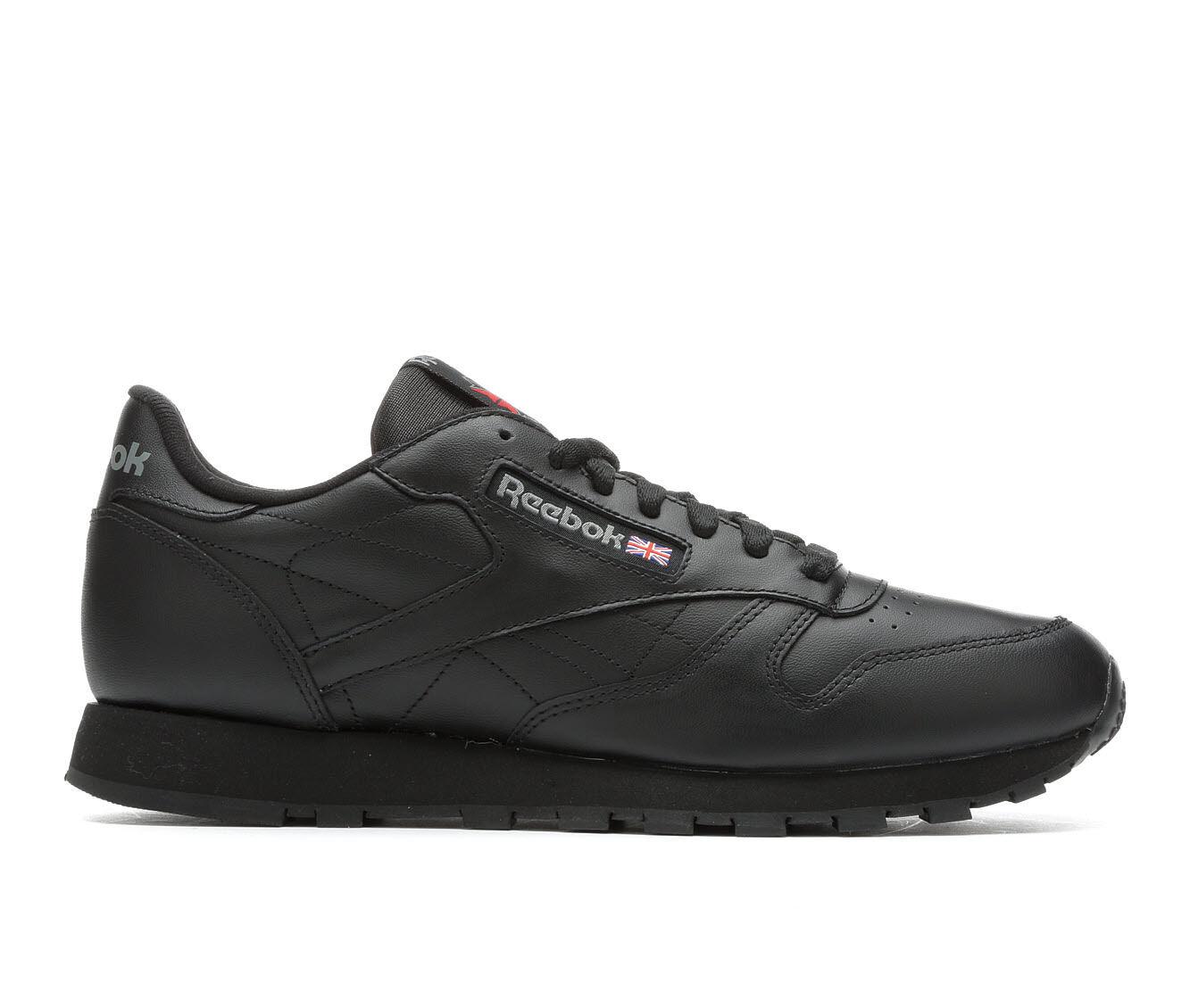Men's Reebok Classic Leather Retro Sneakers Black