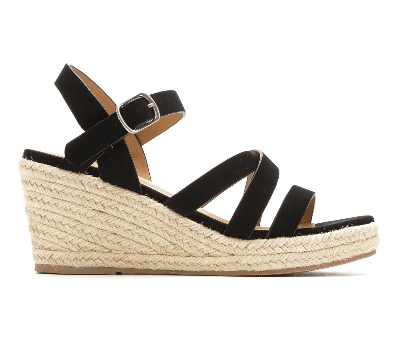 Women's Y-Not Jubilee Strappy Wedge Sandals Black