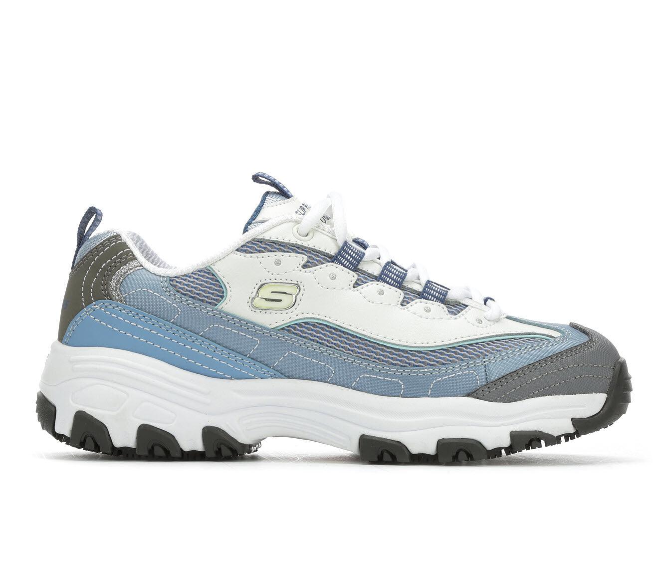 choose comfortable authentic Women's SKECHERS HEALTH D'Lites 77263 Safety Shoes Light Blue
