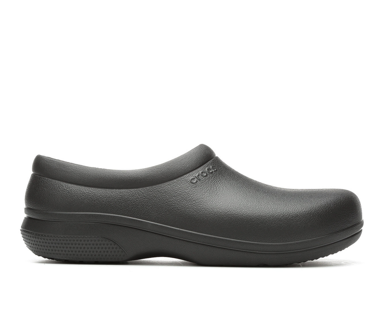 Men's Crocs Work On the Clock Slip On Safety Shoes Black