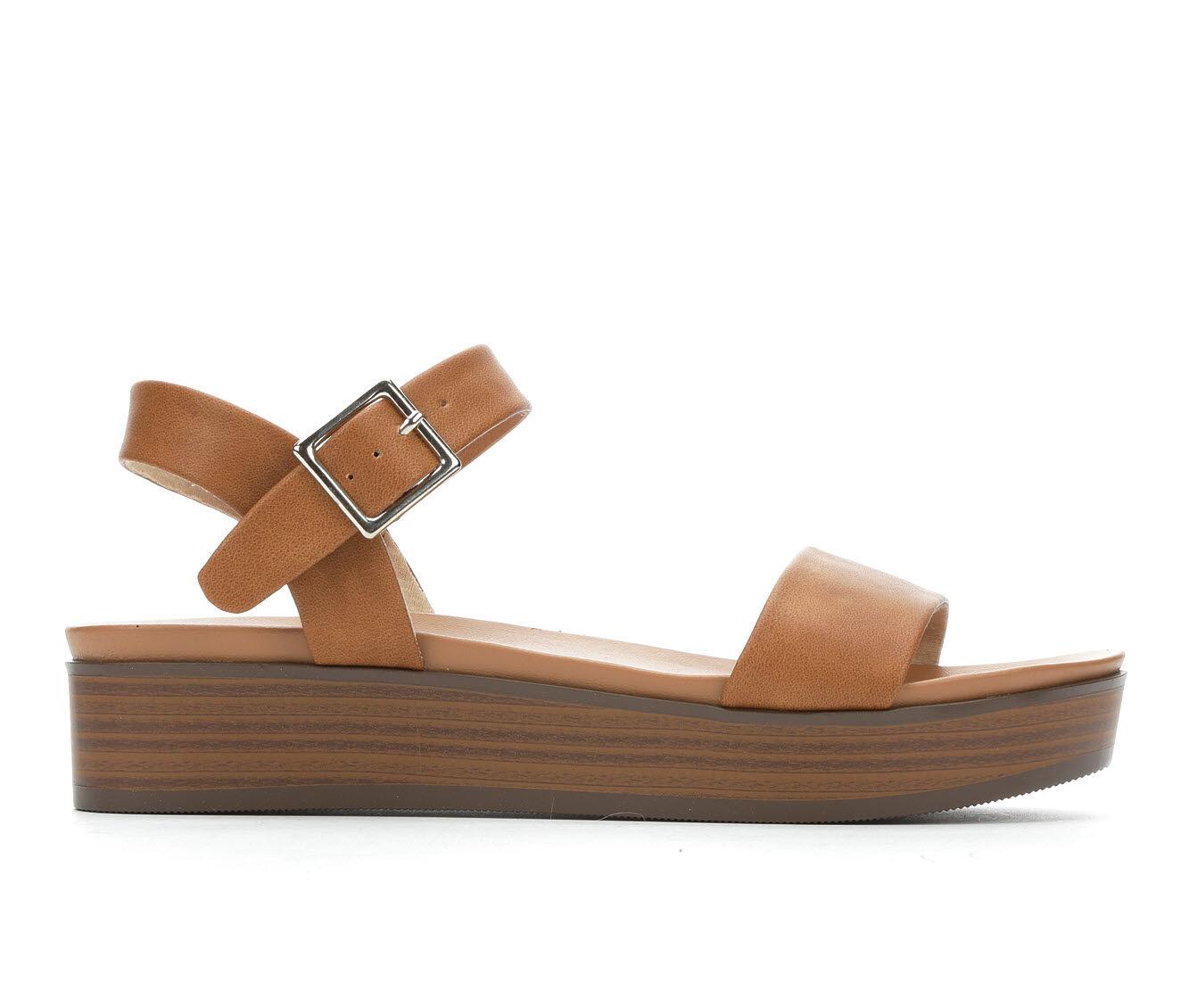 Women's Soda Nebula-S Flatform Sandals Light Tan