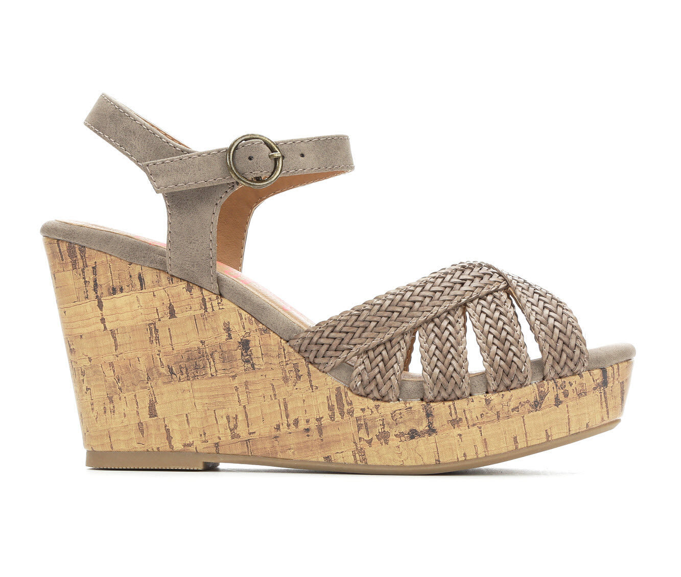 get classic Women's Jellypop Deodar Strappy Wedge Sandals Taupe