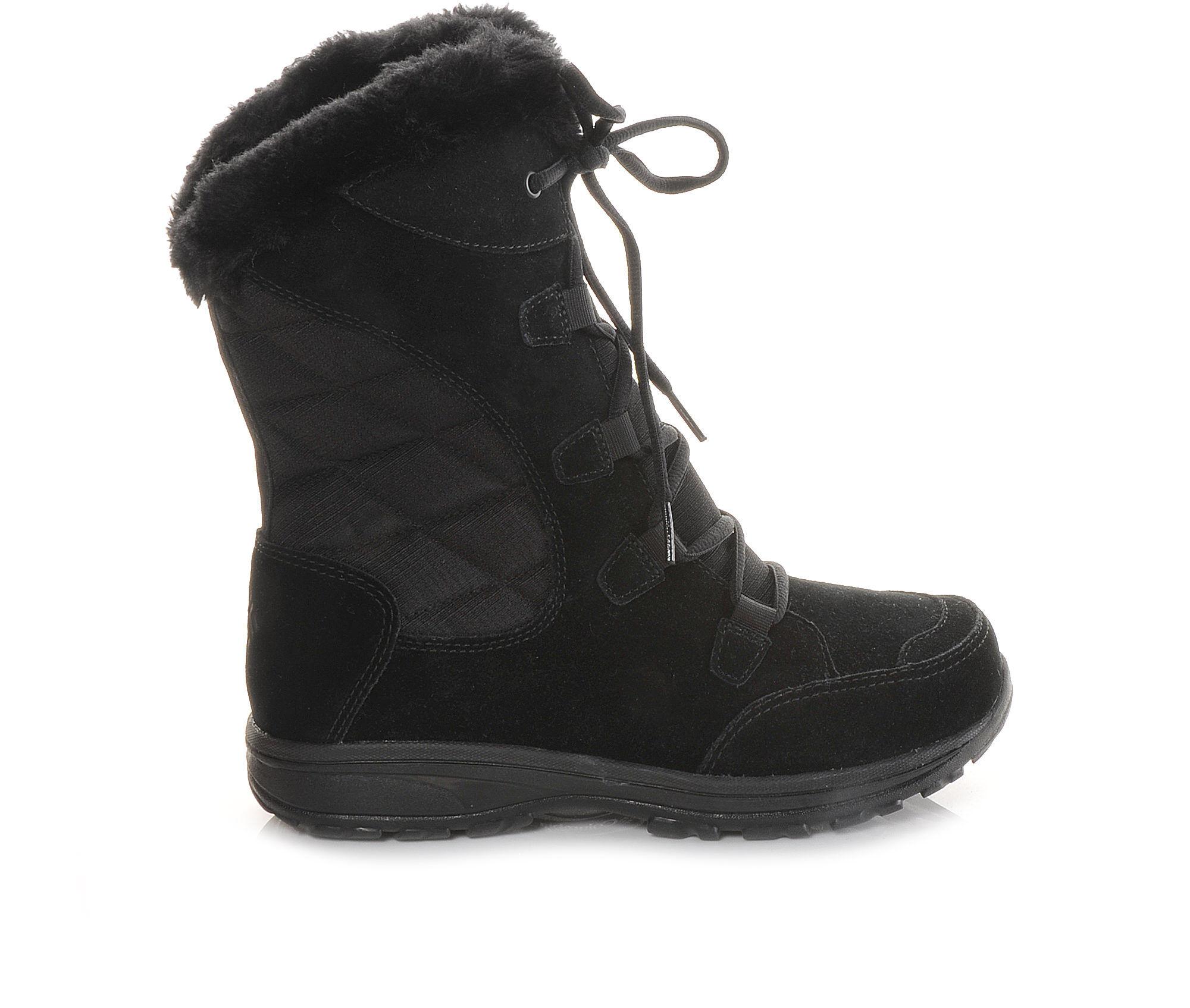 Women's Columbia Ice Maiden Winter Boots Black/Grey