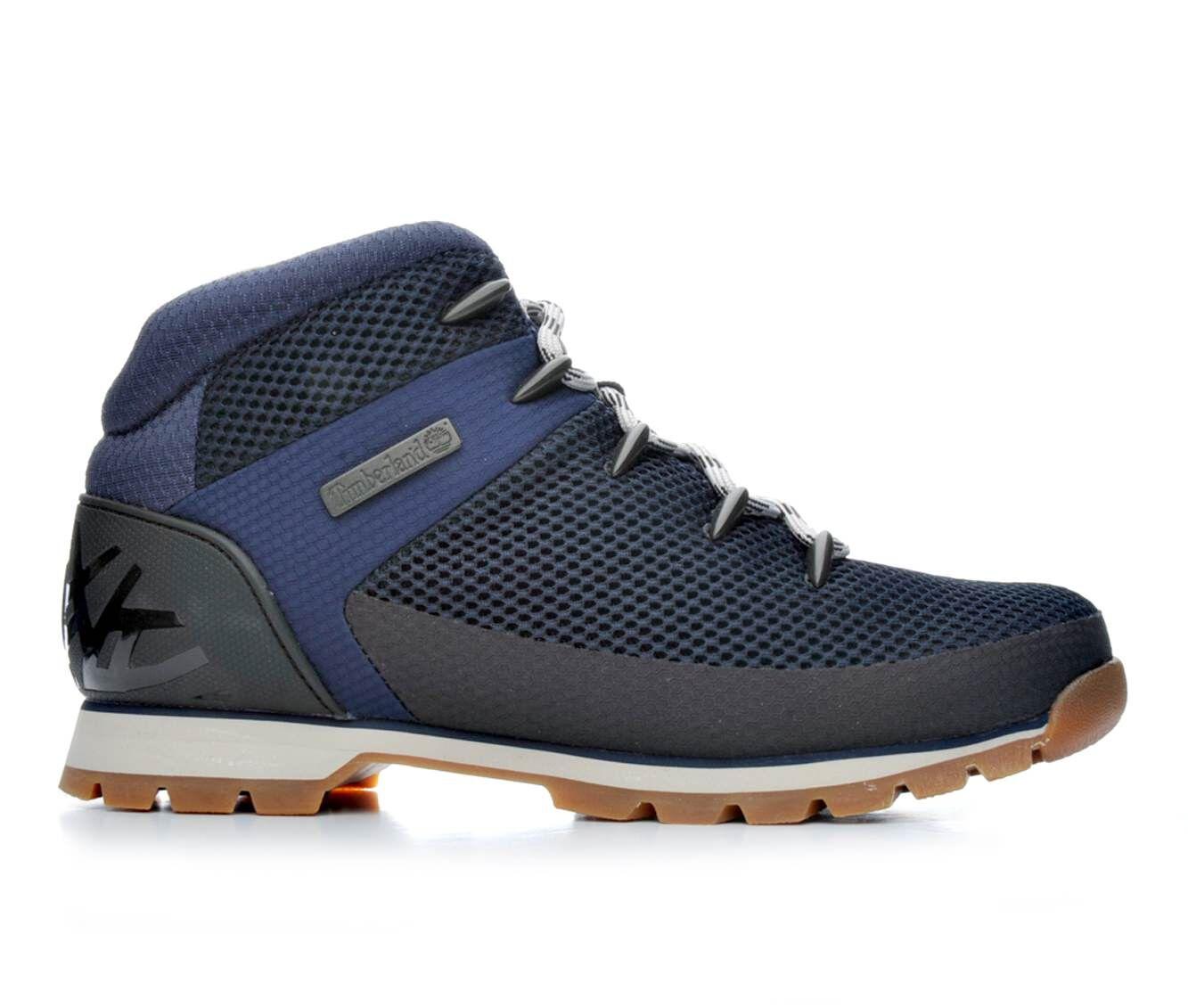 Men's Timberland Euro Sprint Hiker Boots Navy Mesh
