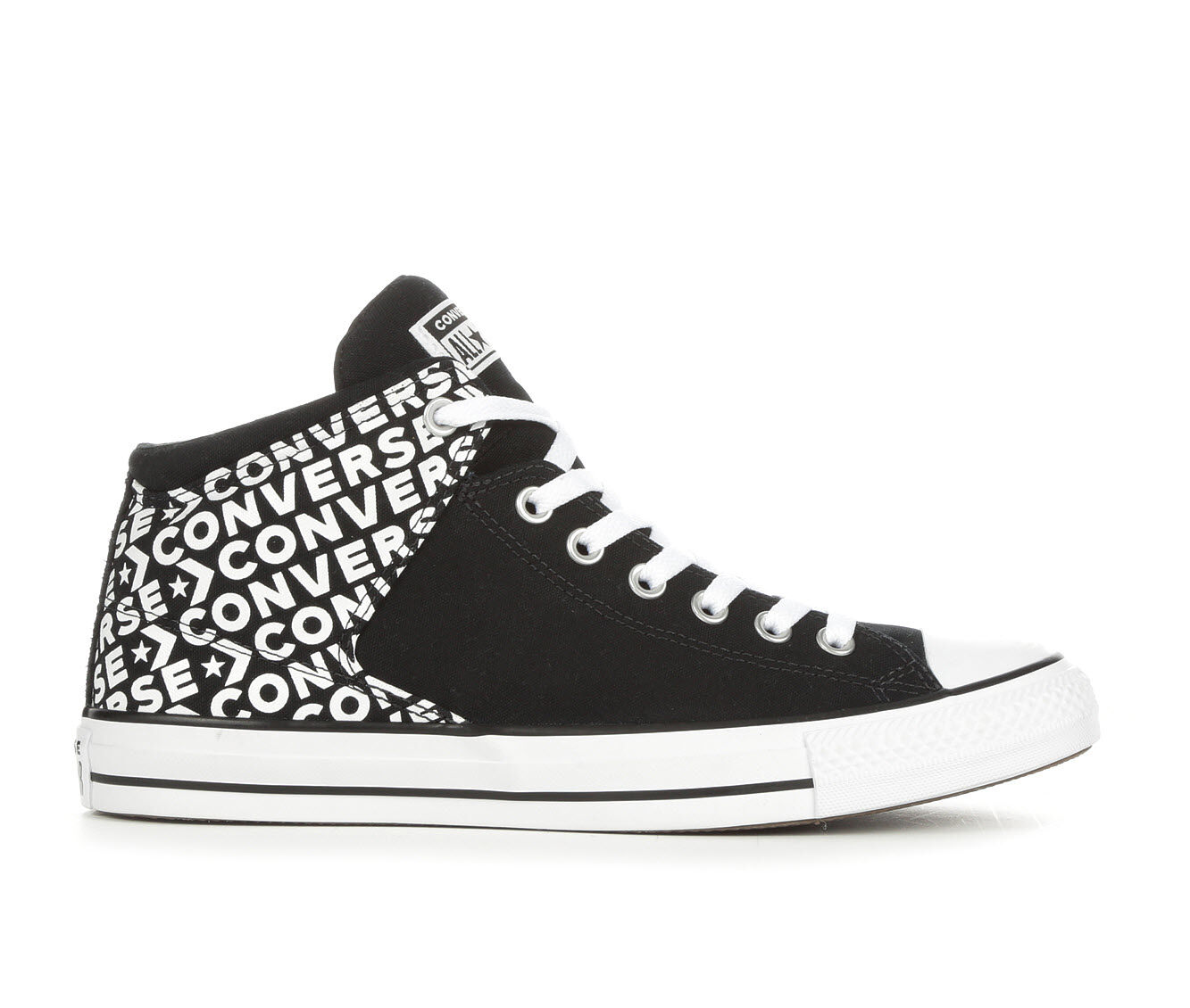 Men's Converse Chuck Taylor All Star Hi St Wordmark 2.0 High-Top Sneakers Black/White