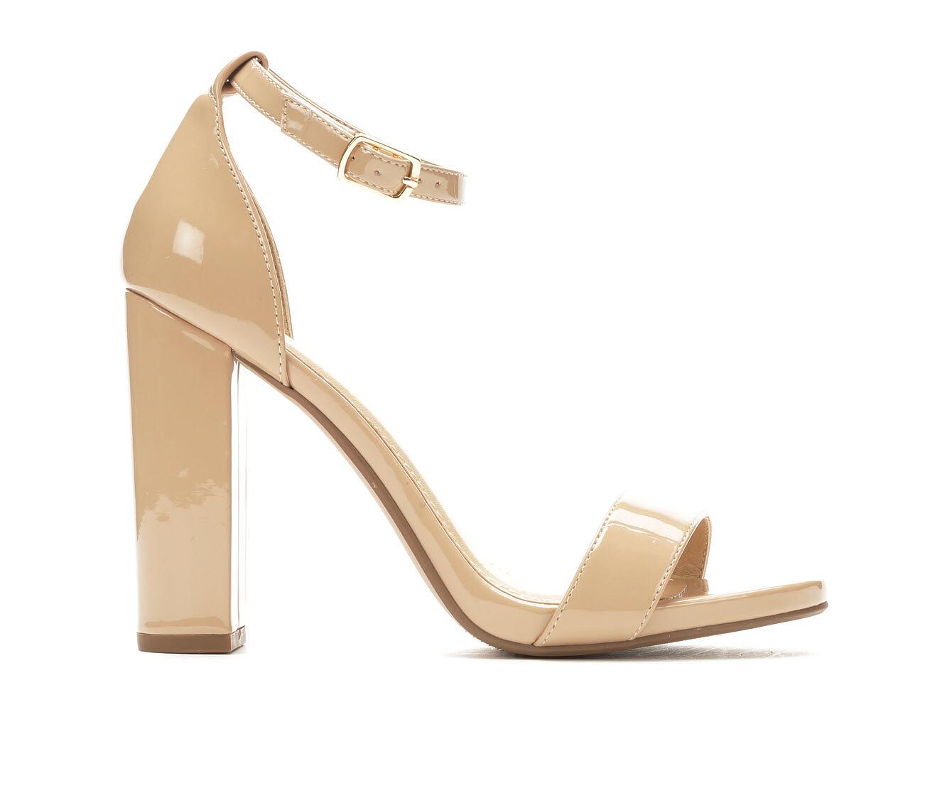 Low Cost Women's Y-Not Shiner Heeled Sandals Dk Beige Pat
