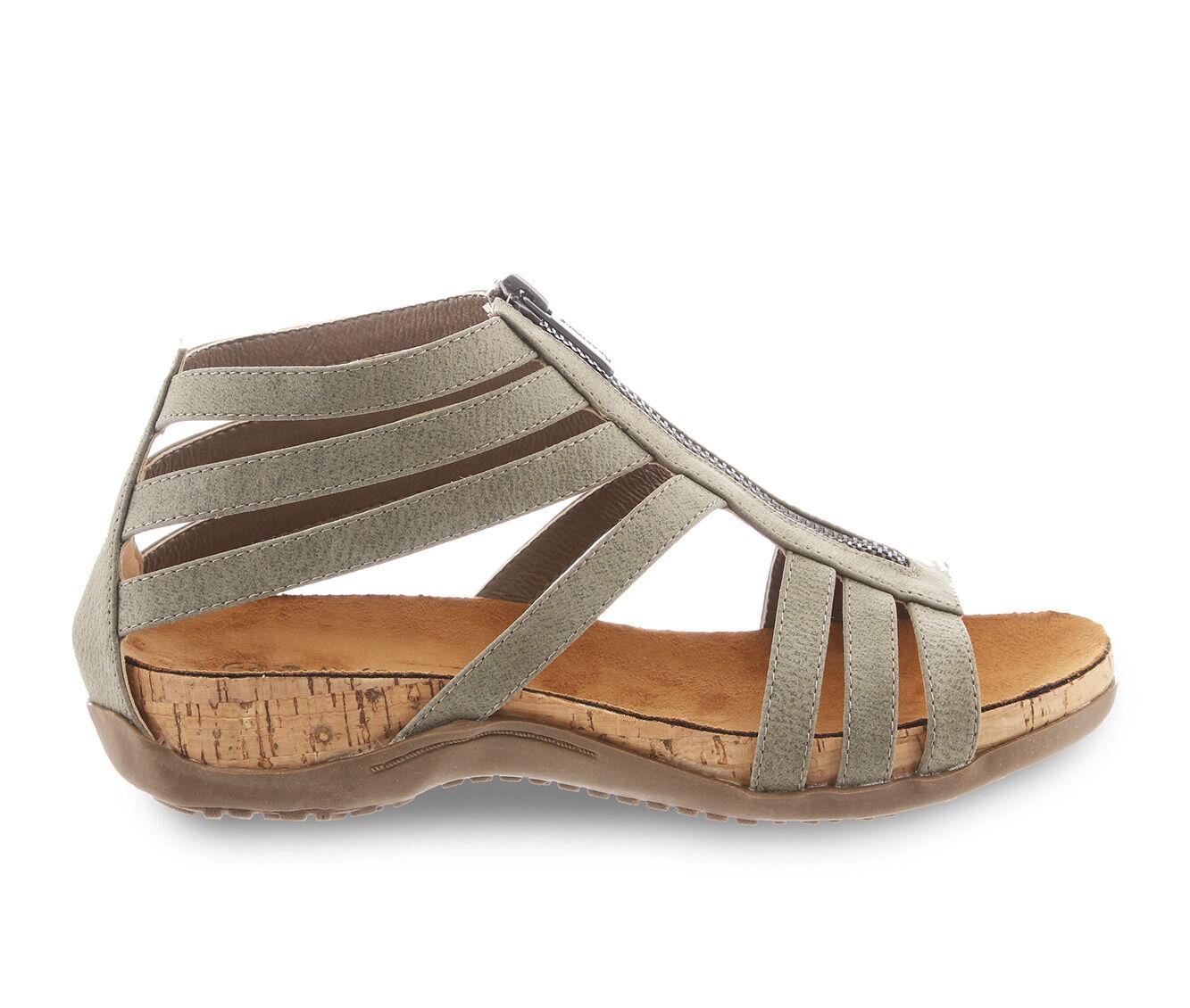 Women's Bearpaw Layla Footbed Sandals Gray