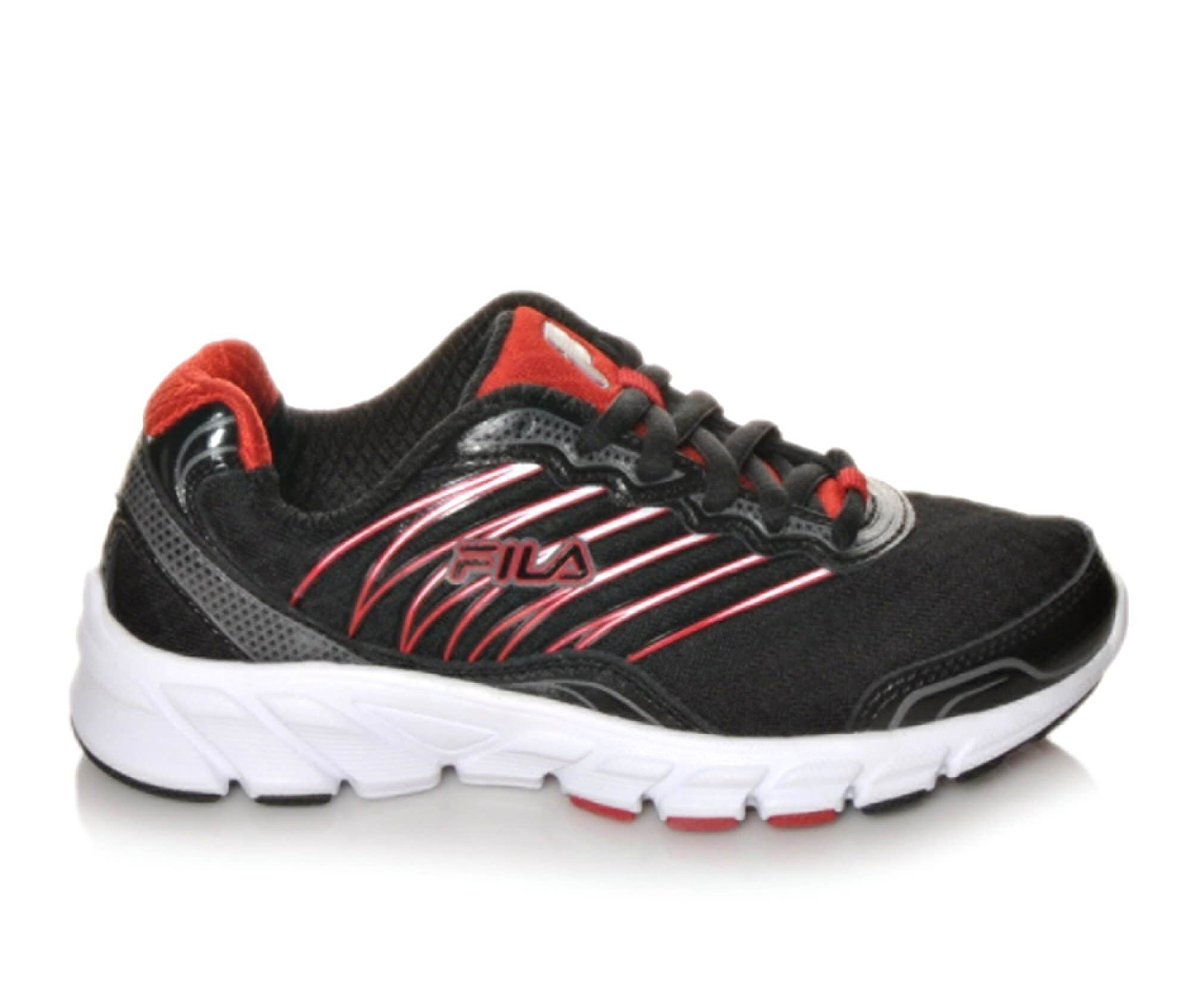 Fila Countdown 10 5 5 Boys Athletic Shoes Black/Red/Silver