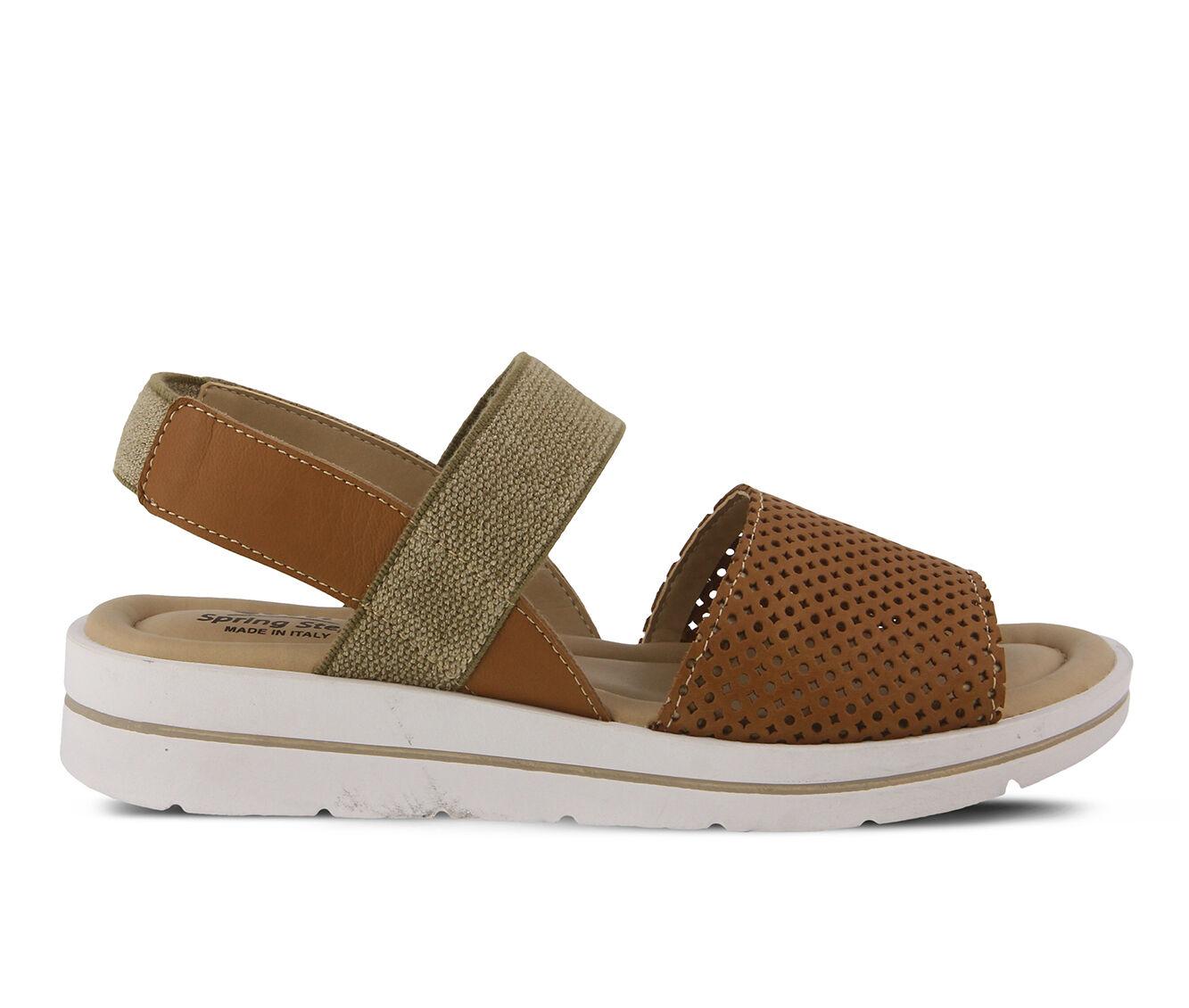 Women's SPRING STEP Travel Sandals Camel
