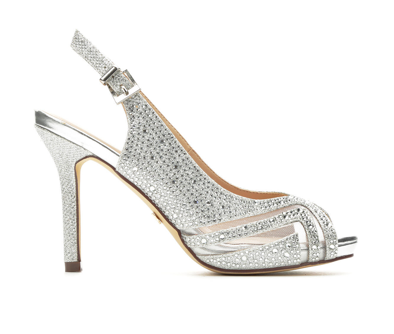 Get Comfortable Women's LLorraine Pearl Special Occasion Shoes Silver