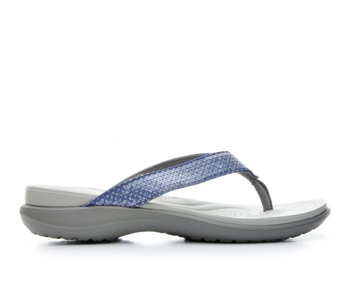 Women's Crocs Capri Graphic Flip