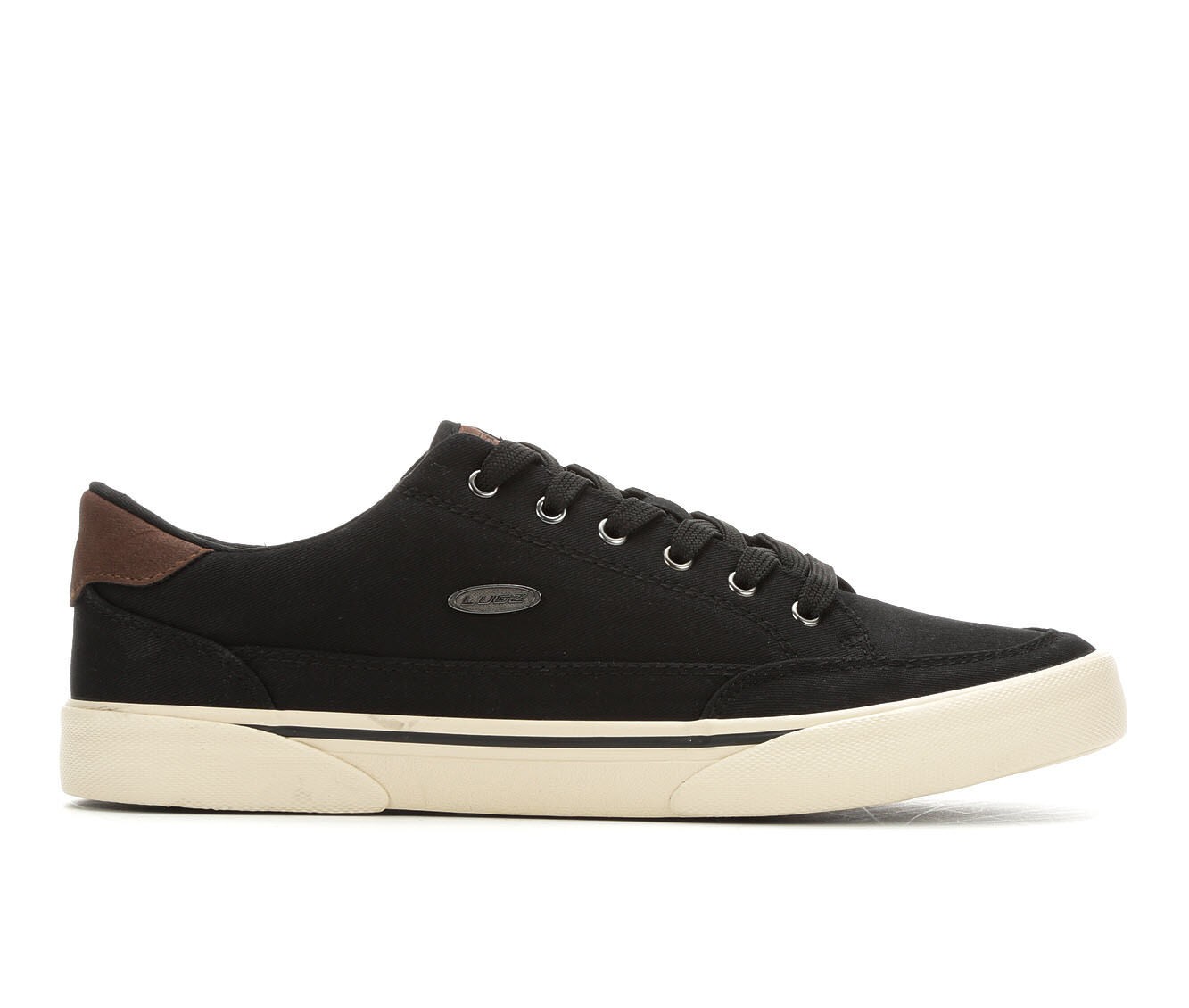 new series Men's Lugz Stockwell Casual Sneakers Black/Chocolate