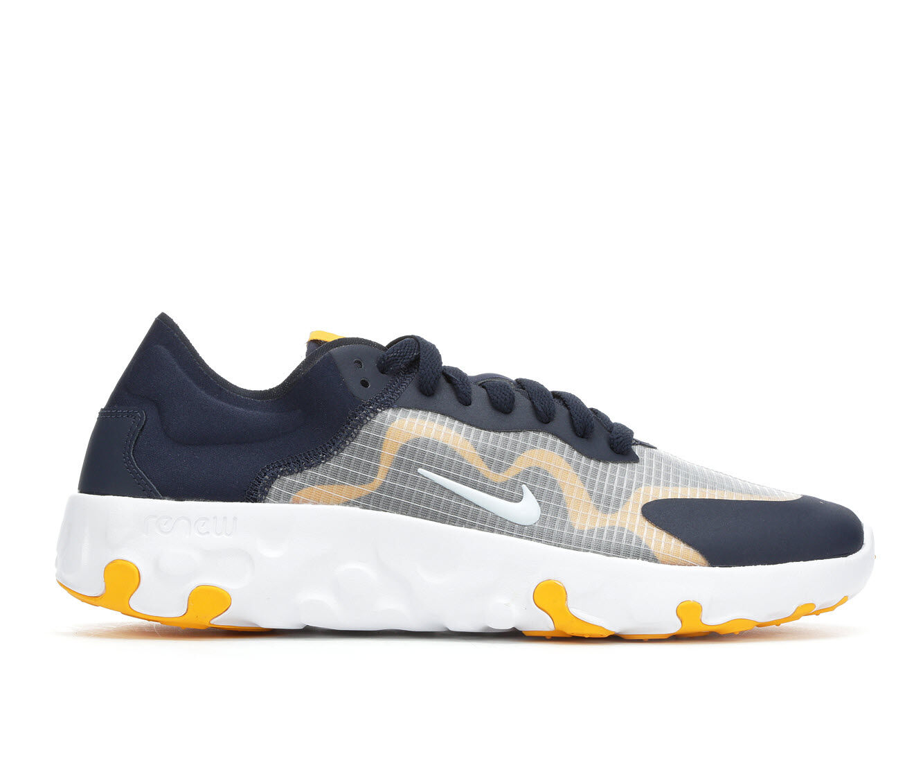 choose new style Men's Nike Rennew Lucent Sneakers Nvy/Wh/Nvy/Gold