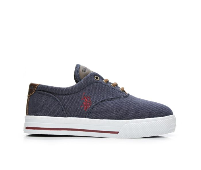 Boys' US Polo Assn Skip In Canvas 3.5-7 Sneakers
