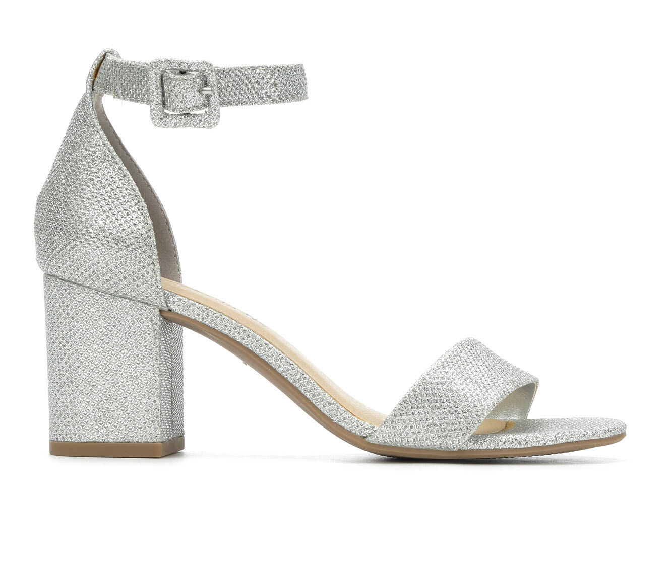Women's City Classified Cake Heeled Sandals Silver Shimmer