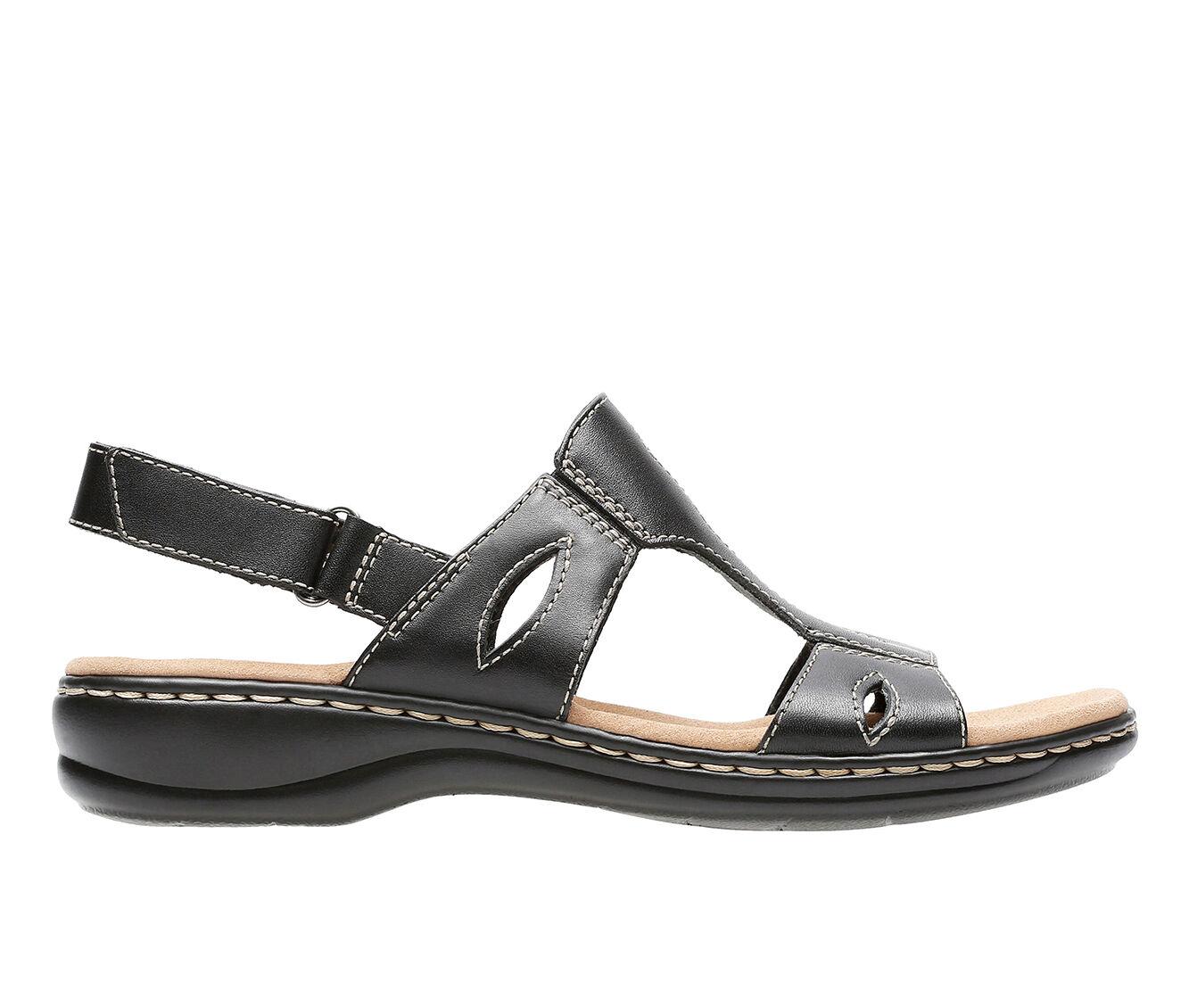 Women's Clarks Leisa Lakelyn Sandals Black Leather