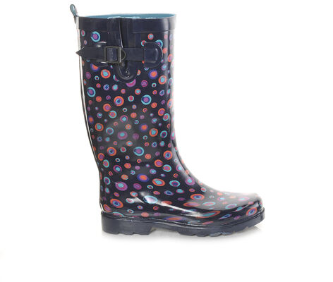 Women's Capelli New York Shiny Marbles Rain Boots