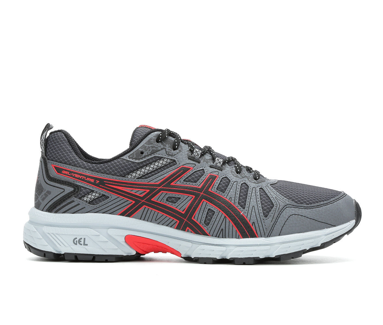 purchase comfortable Men's ASICS Gel Venture 7 Trail Running Shoes Gry/Blk/Red