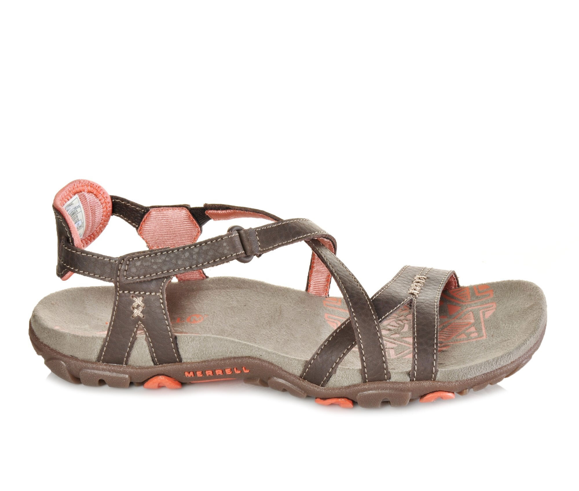 Low prices Women's Merrell Sandspur Rose Leather Hiking Sandals Cocoa/Coral
