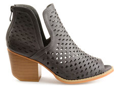 Women's Journee Collection Alaric Peep Toe Booties