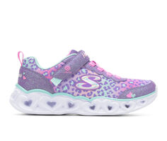Girls' Skechers Little Kid Heart Lights-Leopard Light-Up Sneakers