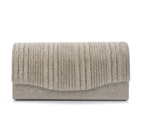 Four Seasons Handbags Small Vertical Stripe Evening Clutch